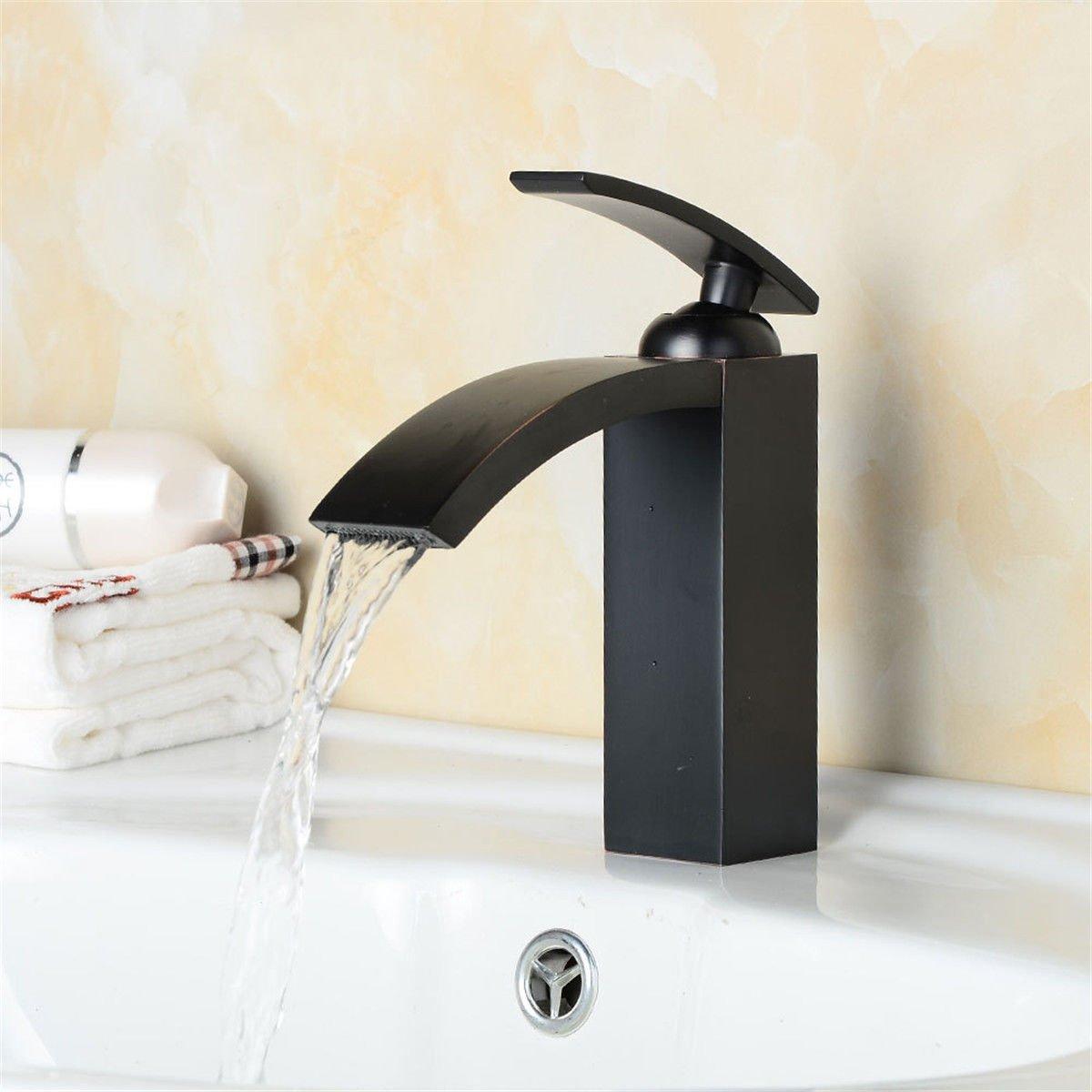 YSRBath Modernos Modernos Modernos Grifos del Fregadero del Cuarto de baño Retro Negro Cascada fría y Caliente Cocina Mezclador Grifos de Lavabo a7b07f