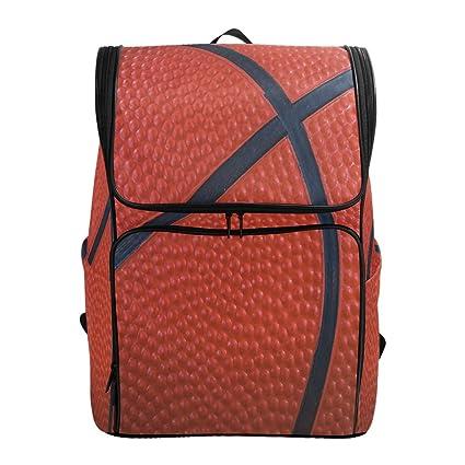 Closeup mochila de baloncesto con textura para negocios, portátil ...