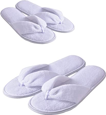 10 Pairs Disposable Guest Closed Toe Slippers Household Travel Hotel SPA Slipper
