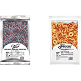 Trolli Sour Brite Crawlers Very Berry Gummy Worms, 5 Lb Bulk Candy Bag & Peachie O's Sour Gummy Rings Candy, 80 Ounce…