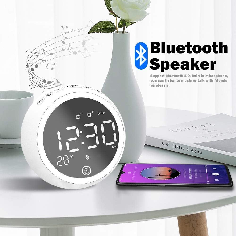 Alarm Clocks Black Ehinew Digital Alarm Clock Radio with Bluetooth ...