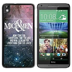 Hot Sale HTC Desire 816 Case ,mice and men Black HTC Desire 816 Cover Case Unique Popular Designed Phone Case