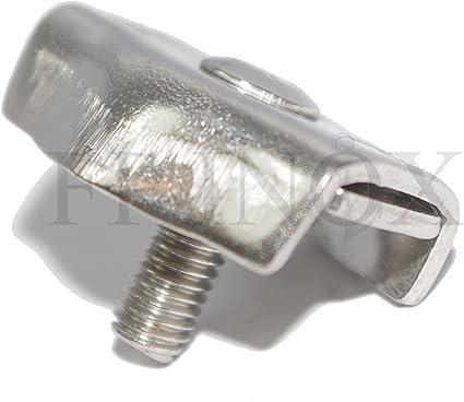 Serre cable PLAT Diamètre Fil 3 mm inox