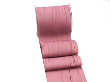 Altrosa Farbe 15m fripe taft 100mm tischband rosa mauve pflaume altrosa hochzeit
