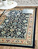 Unique Loom Kashan Collection Navy Blue 8 x 10 Area Rug (8' x 10')