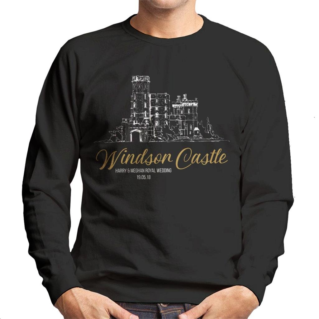 Windsor Castle Harry and Meghan Royal Wedding Men's Sweatshirt