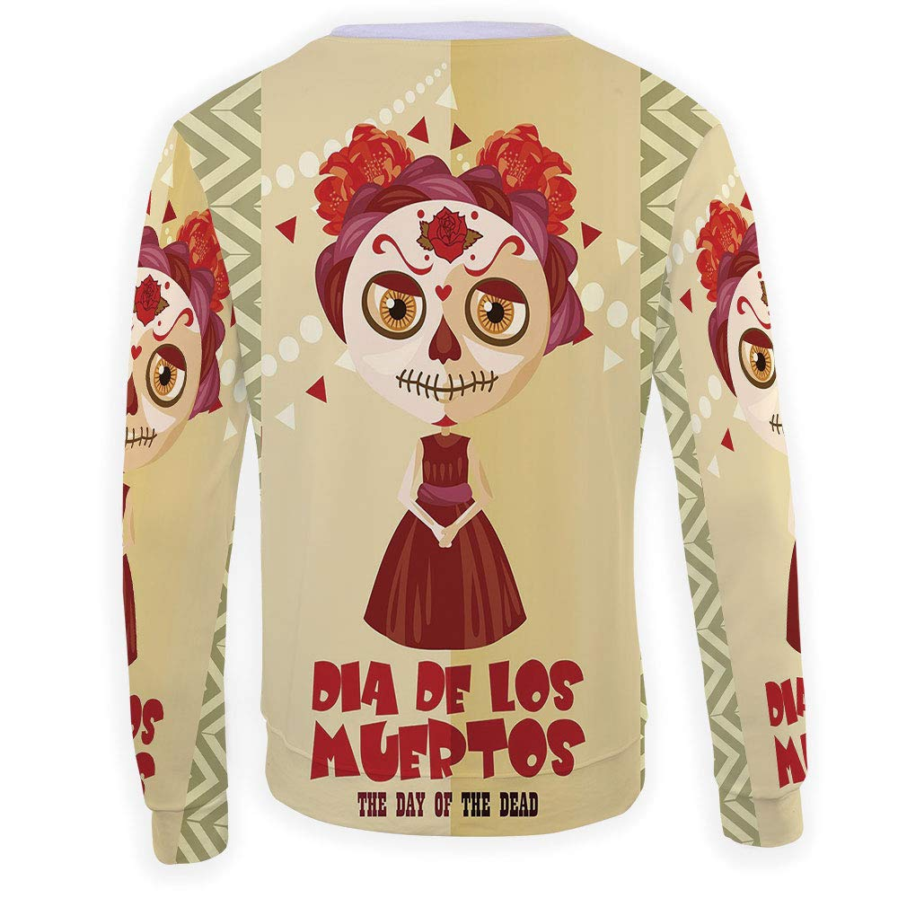 MOOCOM Mens Day of The Dead Decor Sweatshirt Pullover