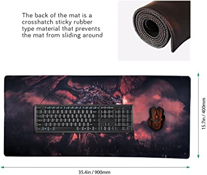 Utimor Großes Gaming Mauspad Xxl Large Mousepad Aus Elektronik