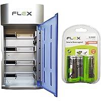 Carregador Flex AA AAA C D Baterias 9v Led com 8 Pilhas D 4500 mAh Recarregáveis Universal FX-C06