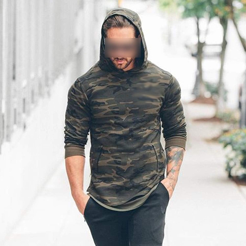 2019 New Men Camouflage 3D Hoodies Fashion Leisure Pullover Fitnesset Sweatshirts Sportswear Clothing