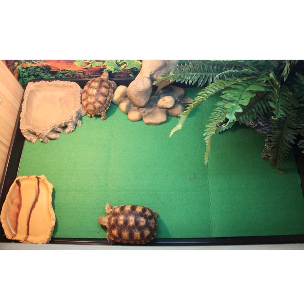 Homyl Alfombra de Cama de Reptiles Accesorios Herramineta Fácil Instalación de Pecera Elegante - 80x40cm: Amazon.es: Jardín