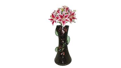 Buy ARP Decorative Flower Vase Black & Pink (Height 15 cm) Online at Gl Vase Buy Online India on buy birch bark, buy fireplace, buy centerpiece, buy dog, buy horse, buy furniture, buy glass, buy watch, buy flowers,