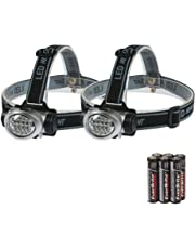 EverBrite 2-Pack Headlamp Flashlight for Running, Camping, Reading, Fishing, Hunting, Walking, Jogging - Headlamps Waterproof, Long Battery Life (Batteries Included), Durable, Lightweight