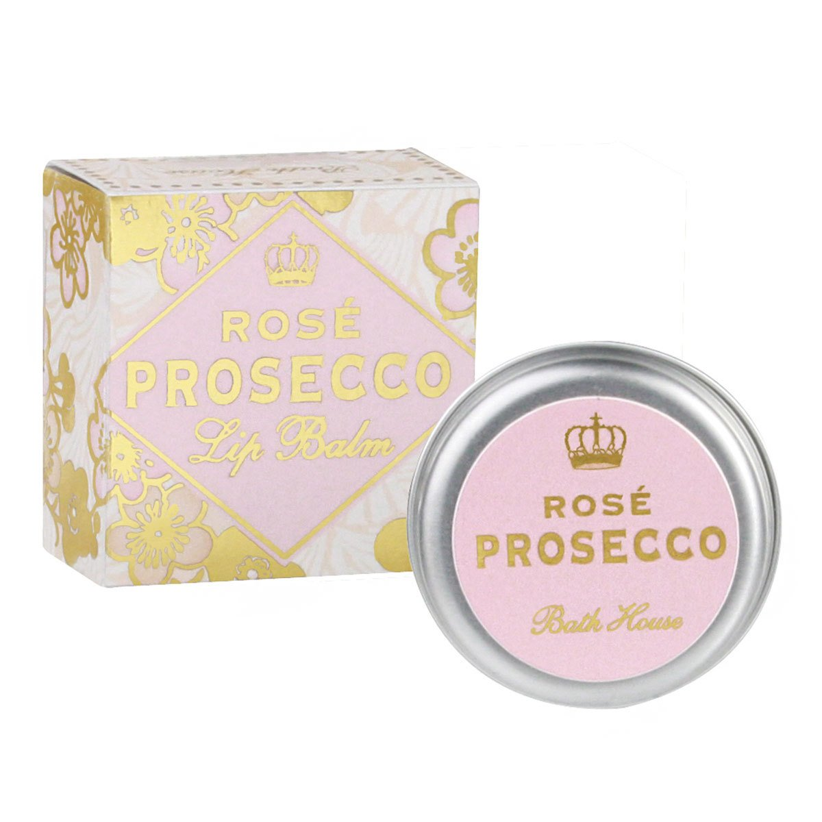 Bath House Rose Prosecco Lip Balm 15g Tin
