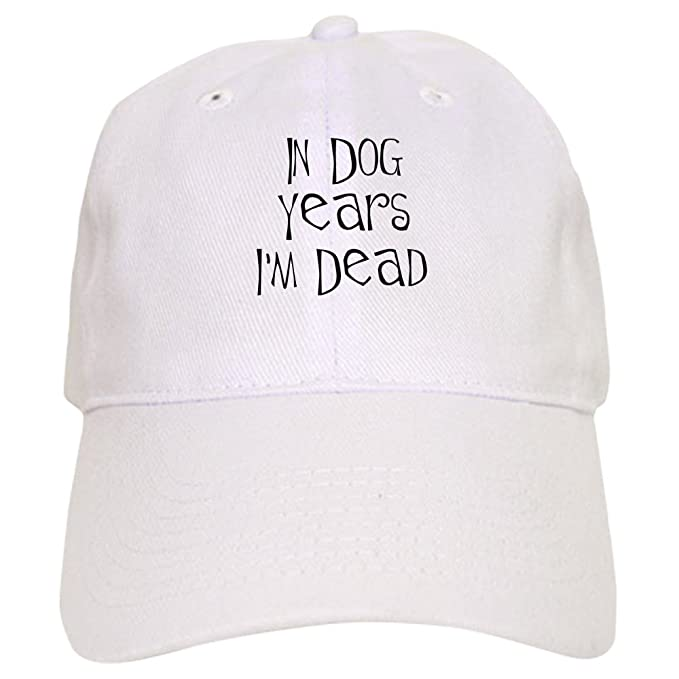 Amazon.com: CafePress - In dog years Im dead Cap - Baseball Cap with Adjustable Closure, Unique Printed Baseball Hat Khaki: Clothing