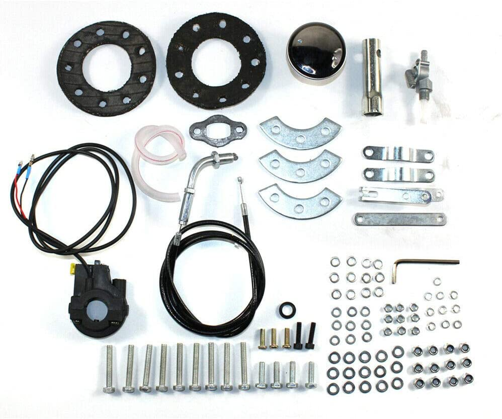 ZHFEISY Bicycle Bike Engine Motor Kit WITHOUT BELT 49cc 4 Stroke Gas Petrol Motorized Bike Engine Motor Kit 2L