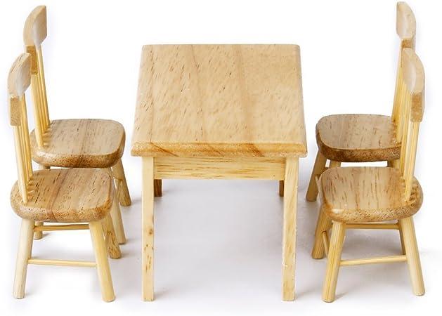 1//12 Chaises de salle à manger en bois de meubles de salle à manger de