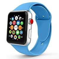 Iyou für Apple Watch Armband 38MM/42MM, Weiches Silikon Ersatzarmband Classic Sportarmband für iWatch 2017 Apple Watch Series 3/2/1, Edition, Nike +, Mehr Farben Wählen Sie