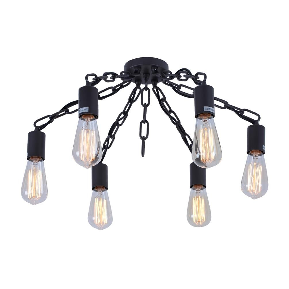 Rustic light fixtures flush mount ceiling light bedroom ceiling light industrial flush mount chandelier kitchen ceiling lighting with 6 lights amazon