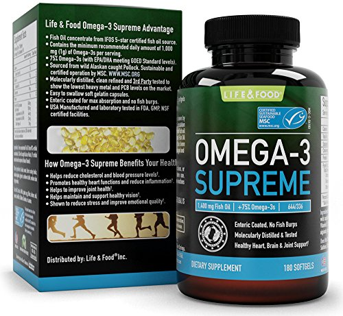 Omega 3 Supreme Strength 1400 mg - High EPA DHA Fish Oil