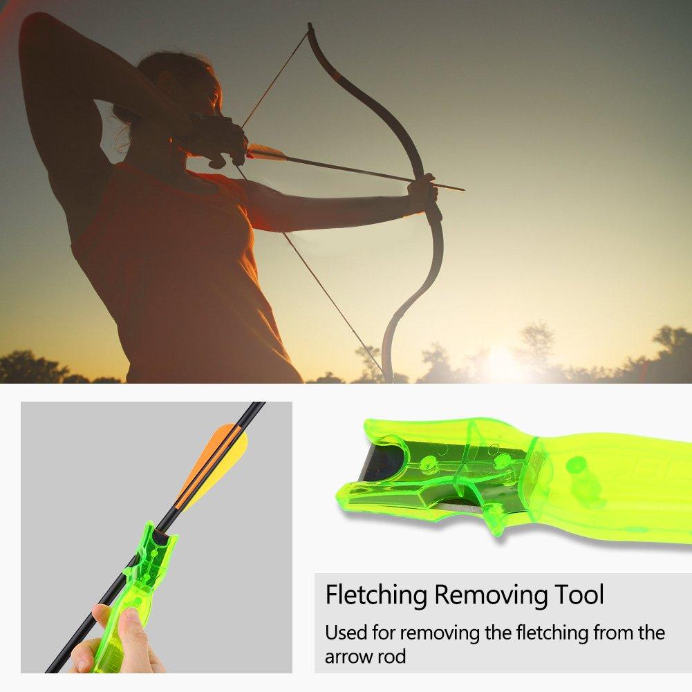 Flecha Remover Flecha Hoja De Acero Mango De Pl/ástico Dise/ño de Carbono Flechas De Carbono Mixtas Flechas De Aluminio Accesorio De Tiro con Arco