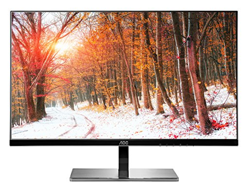 AOC i2777fq 27-Inch Class IPS LED Monitor, Bezel-less, Full HD, 5ms, 50M:1 DCR,VGA/(2)HDMI,MHL /DP,VESA, Spk