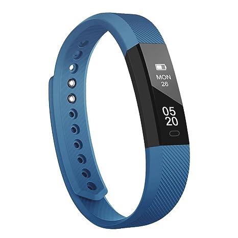 Fitness Tracker Pulsera Inteligente, RobotsDeal id115 Recordar de Llamada con Bluetooth Remoto Disparador Automático Inteligente