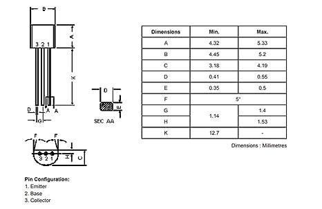 1 Bipolar Transistor Pnp To92/BC557//°C Shell