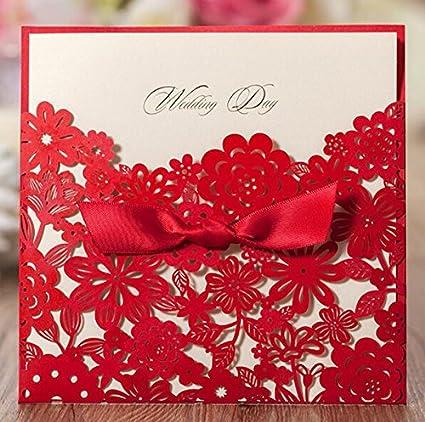 Amazon Com Krismile 12 Red Elegant Handmade Laser Cut Chinese