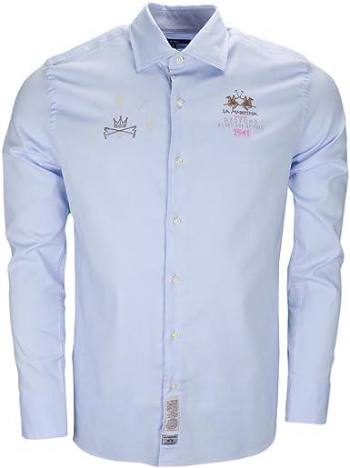 La Martina - Camisa Casual - Blusa - para Hombre Azul M: Amazon.es: Ropa y accesorios