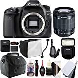 Canon EOS 80D 24.2MP Digital SLR Camera with 18-55mm EF-IS STM Lens , 430EX lll-RT Flash and Accessory Kit