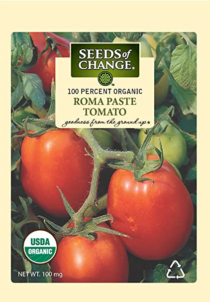 Seeds of Change 01197 Certified Organic Tomato, Roma Paste