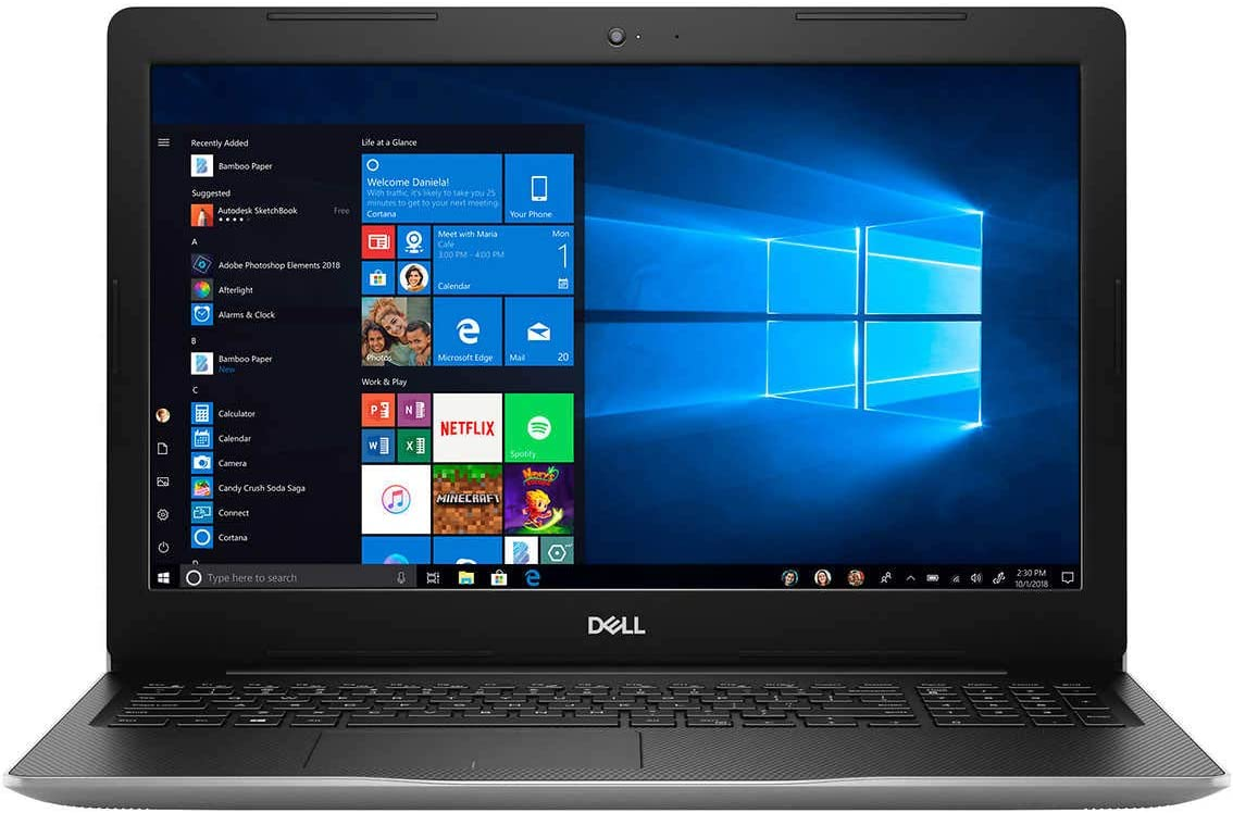 "2019 Dell Inspiron Laptop Computer - 10th Gen Intel Quad-Core i5 1035G1 up to 3.6GHz - 15.6"" FHD Touchscreen, Intel ICL-U UHD Graphics - 16GB DDR4 RAM, 1TB HDD + 512GB PCIE SSD - Silver - Windows 10"