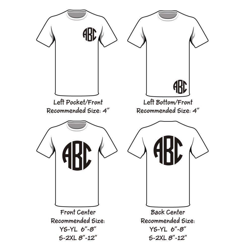 Amazon Com Monogram Raglan 3 4 Sleeve T Shirt 17 Colors