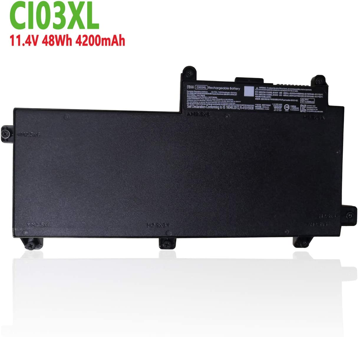 efohana CI03XL Laptop Battery Replacement for HP ProBook 640 G2,645 G2,650 G2,655 G2 Series Notebook HSTNN-LB6T 801517-422 CIO3XL CI03 CIO3 HSTNN-UB6Q 801554-001 11.4V 48Wh 4200mAh