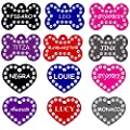 CNATTAGS Swarovski Crystals Pet ID Tags Personalized Various Shapes Premium Aluminum from CNATTAGS LLC