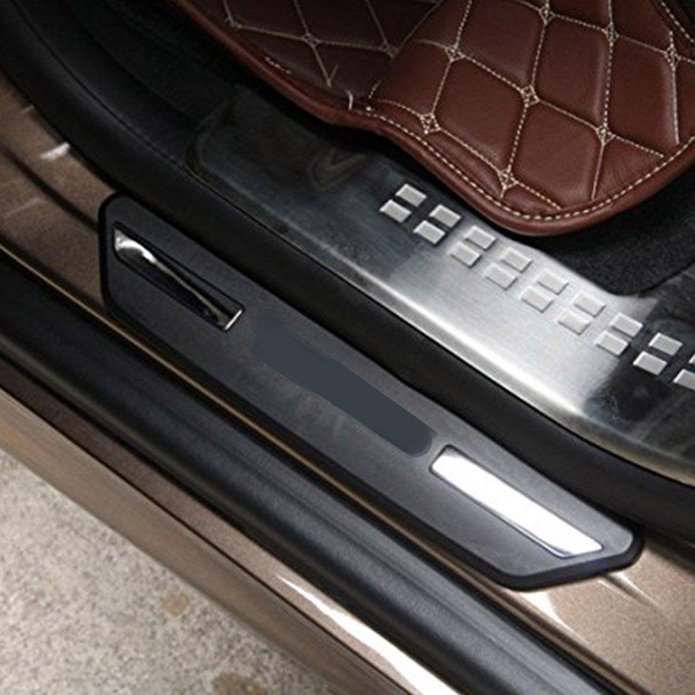 Per XC60 V60 2014 2015 2016 auto plastica posteriore battitacco Batticalcagno cover Trim esterna soglie pedale DIYUCAR