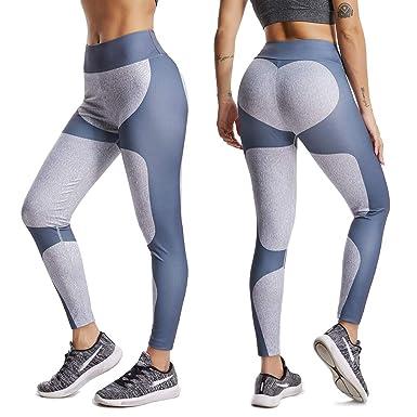 f695b327299ec6 SEASUM Women Seamless Leggings Sports Gym Yoga Workout High Waist Strechy Running  Pants Fitness Printed Tights