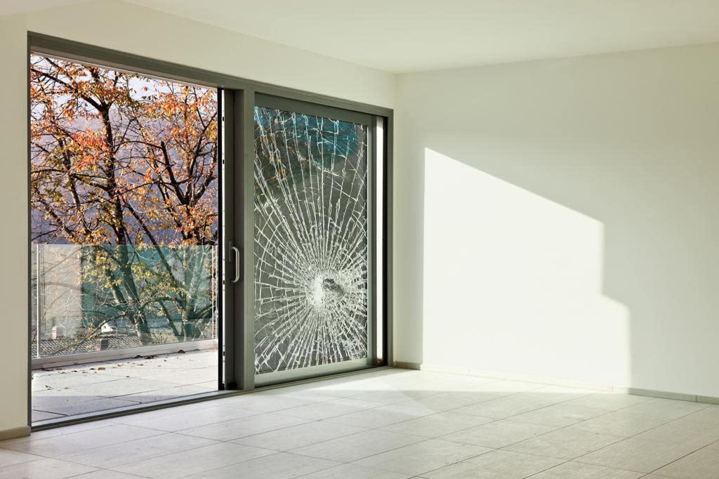 ShatterGard Glass Door Security Film