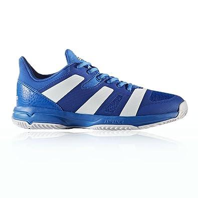 adidas Unisex-Kinder Stabil X Jr Handballschuhe, Blau (Blau/Ftwbla/Blau), 33 EU