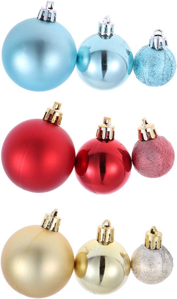 Vosarea 10 Unids 5 cm Bola Transparente /Árbol de Navidad Colgante Adornos de Navidad Colgando Decoraci/ón de la Chucher/ía Caramelo Confeti Caja de Regalo del Sostenedor de La Boda Decoraci/ón