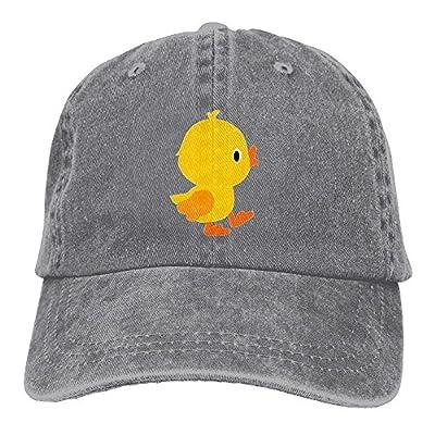 Vintage Adult Sport Baseball Cap Cute Cartoon Yellow Chicken Adjustable Denim Cowboy Hat For Men Women