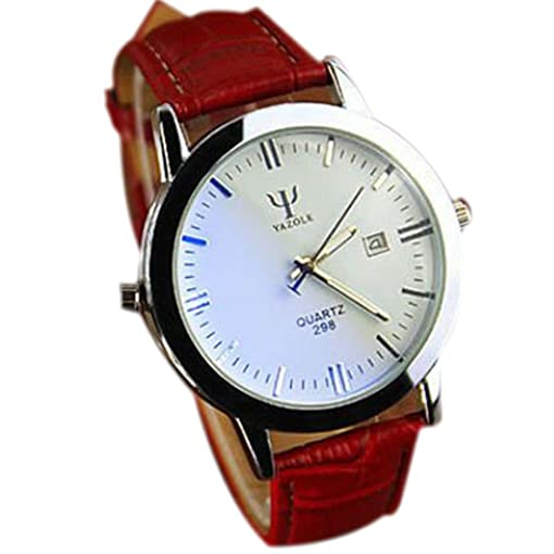 Men Watches Business Luxury Wristwatches Men Pu Leather Sports Watch Auto Date Relogio Masculino White &