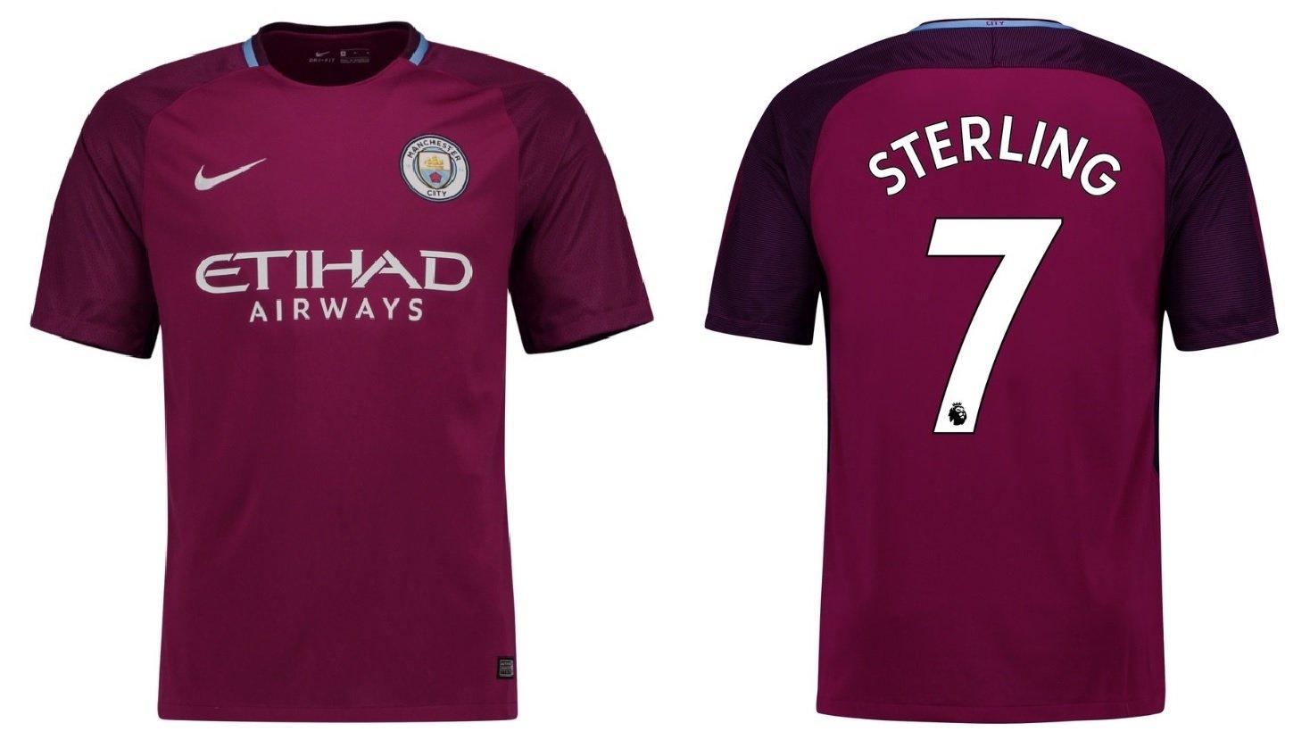 Trikot Kinder Manchester City 2017-2018 Away - Sterling 7