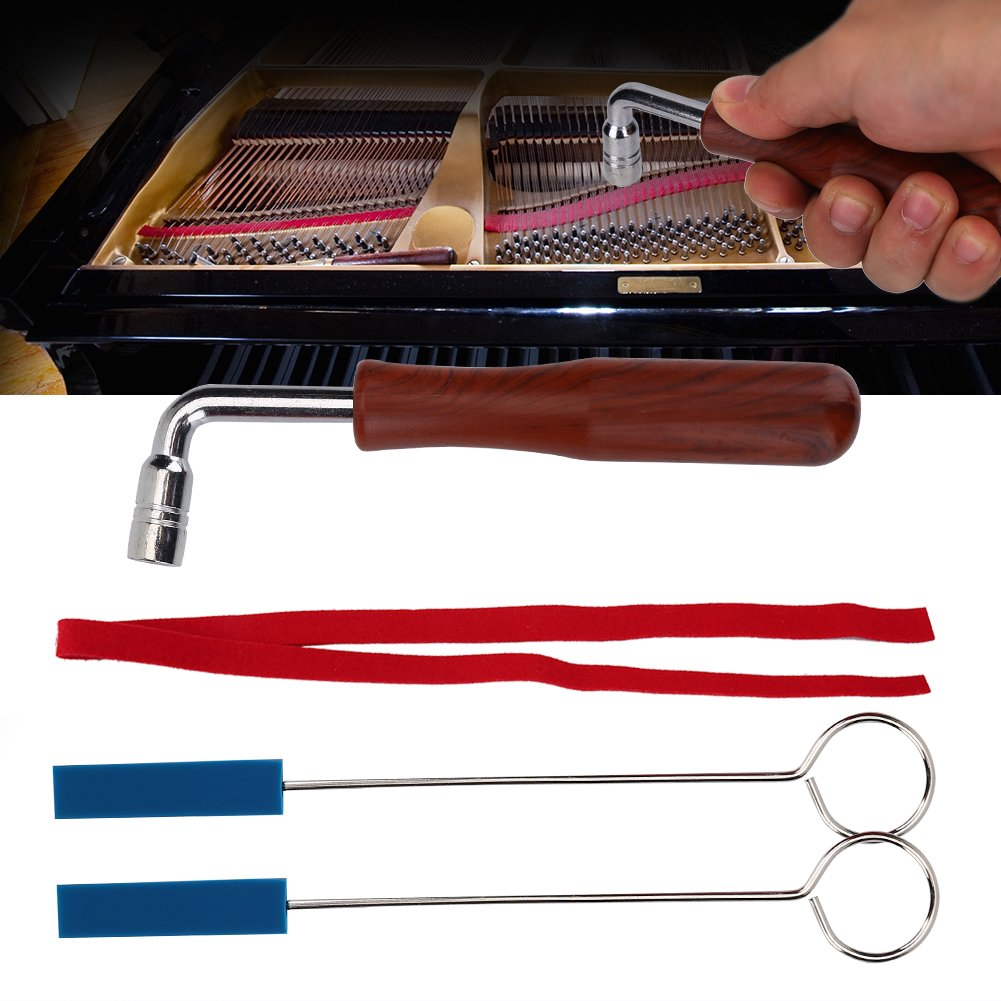 Piano Tuning Tools Kit Professional Piano Tuning Hammer Wrench Lever Mutes Tools Kit Temperament Strip Tools Diy Fixing Kit Set by Vbestlife (Image #5)