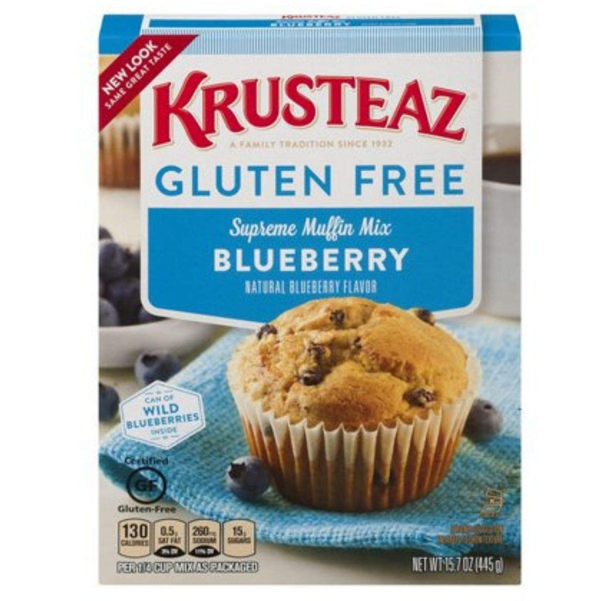 Krusteaz Gluten Free Blueberry Muffin Mix, 15.7-Ounce Box (Pack of 12) by Krusteaz