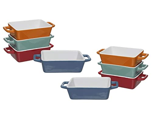 Invero - Juego de 8 Mini Platos de cerámica rectangulares para ...