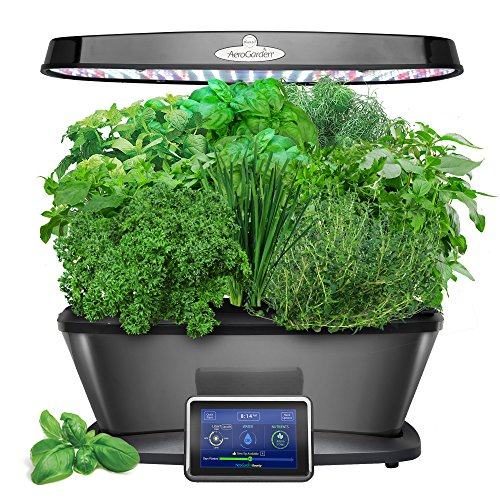 AeroGarden Bounty Elite with Gourmet Herb Seed Pod Kit, Platinum (Best Aeroponic System 2019)