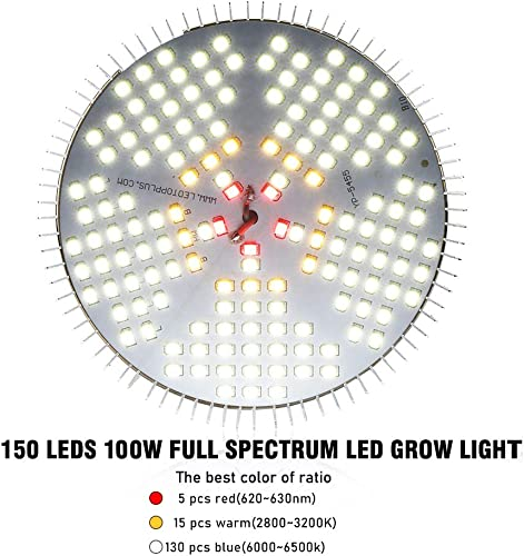 Pack of 2 100W LED Plant Lights Bulb – Daylight Full Spectrum Grow Lights for Indoor Plants, E26 150 LEDs Grow Light Bulb for Indoor Garden Houseplants Seedlings Vegetable