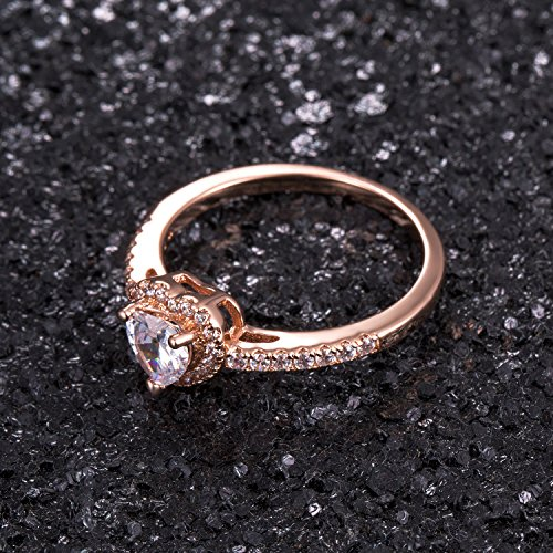 Luxurious Rose Gold Plated Cubic Zirconia Infinity Love Solitaire